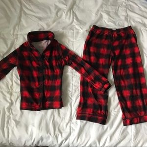Boys plaid holiday pj set 5T